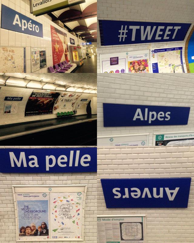 RATP poisson d'avril le texte et l'image